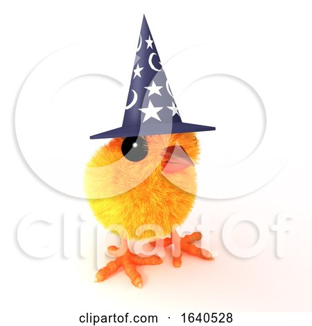 3d Easter Chick Wizard Posters, Art Prints