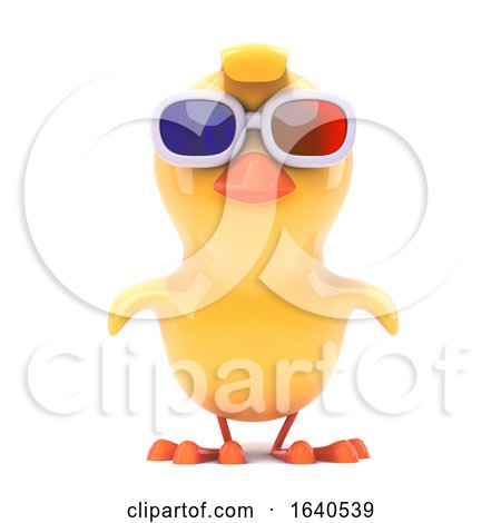 Chick Wears 3d Glasses Posters, Art Prints