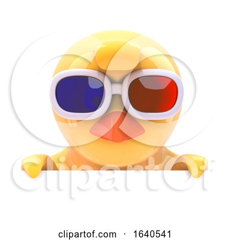 Chick in 3d Glasses Looks over the Top Posters, Art Prints