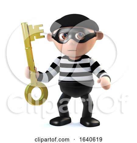 3d Burglar Holds the Key by Steve Young