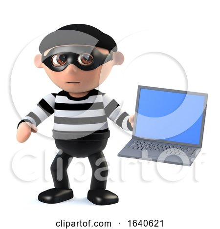 3d Burglar Hacks a Laptop Computer by Steve Young
