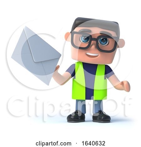 3d Health and Safety Man Gets a Letter by Steve Young