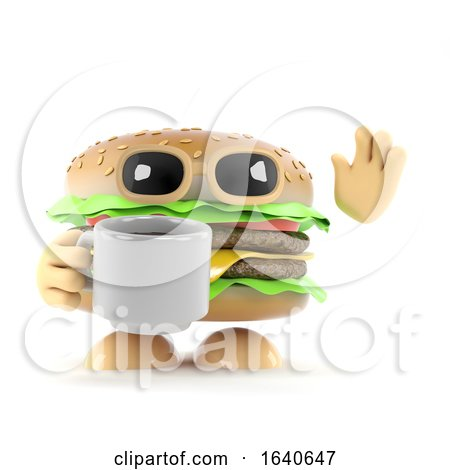 3d Burger Coffee Break by Steve Young