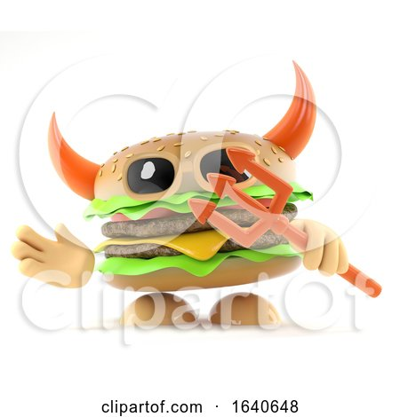 3d Devil Burger by Steve Young