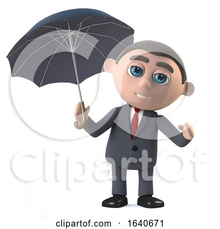 3d Businessman Under an Umbrella by Steve Young