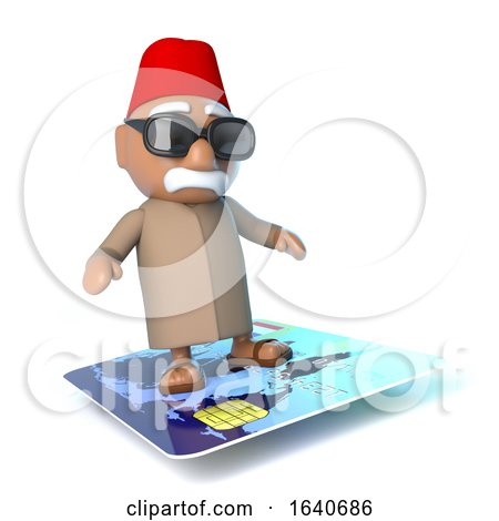 3d Moroccan Flying on a Credit Card by Steve Young