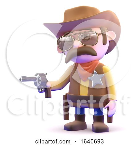 3d Quick Draw Cowboy by Steve Young