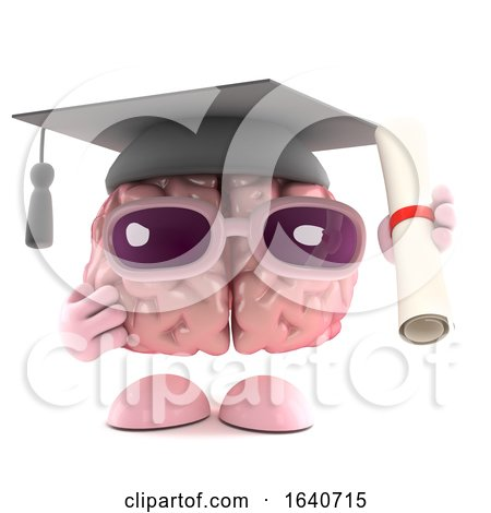 3d Graduate Brain by Steve Young