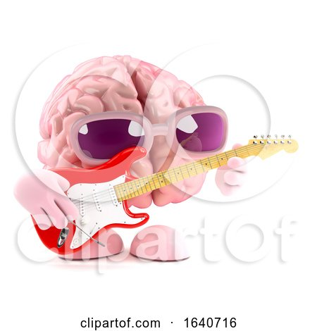 3d Brain Is Learning to Play Electric Guitar by Steve Young