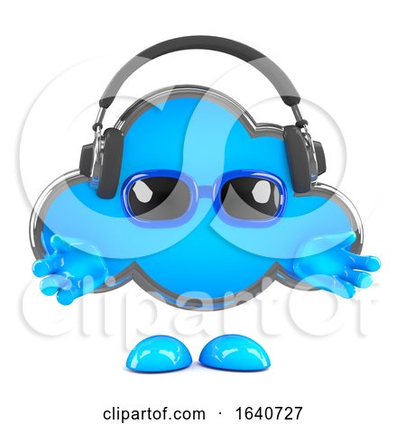 3d Cloud Headphones by Steve Young