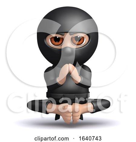3d Ninja Meditates by Steve Young