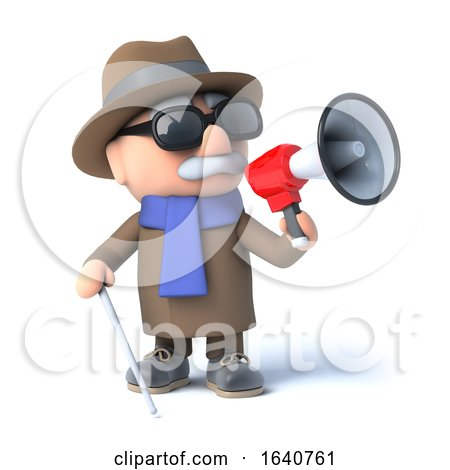 3d Blind Man Using a Megaphone by Steve Young