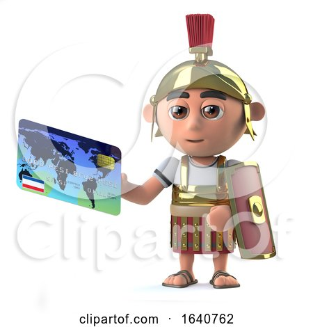 3d Roman Centurion Pays with a Debit Card by Steve Young