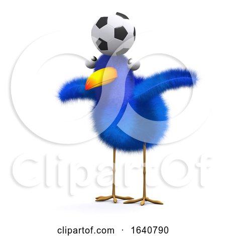3d Blue Bird Balance by Steve Young