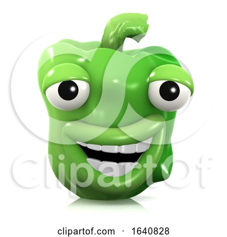 3d Laughing Green Pepper by Steve Young