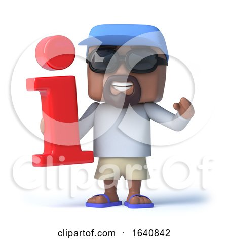 3d Sailor Dude Has Information Symbol by Steve Young