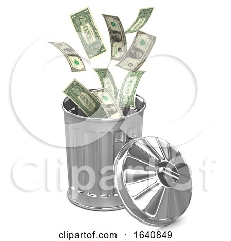 3d Dollar Trash Can by Steve Young