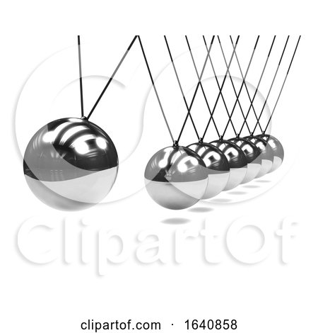 3d Newtons Cradle Device by Steve Young