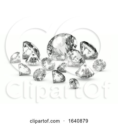 3d Scattered Diamonds by Steve Young