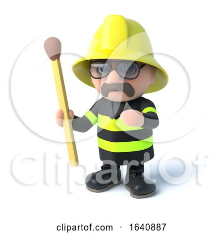 3d Fireman Holds a Match by Steve Young