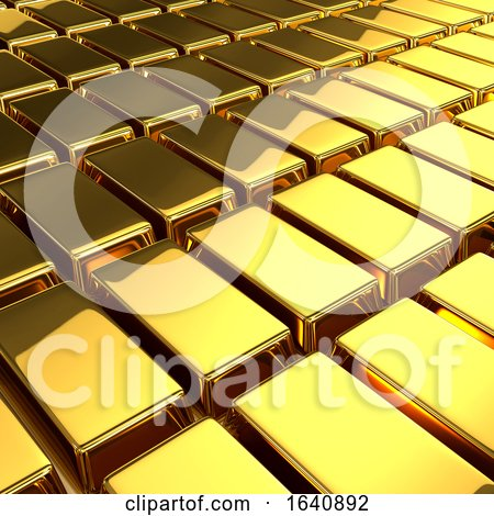 3d Gold Bars Posters, Art Prints