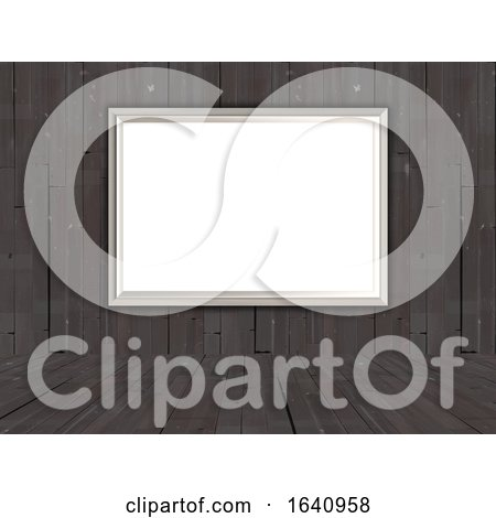 3D Blank Picture in an Old Wooden Room by KJ Pargeter