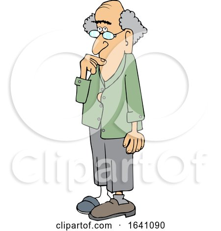 Cartoon Absentminded Senior White Man by djart