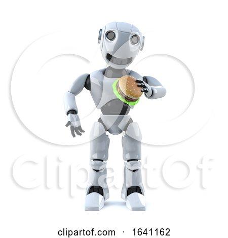 3d Robot Eats a Beef Burfer by Steve Young