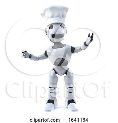 3d Robot Wearing a Chefs Hat by Steve Young
