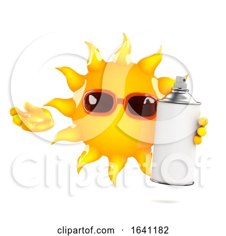 3d Sun Spray by Steve Young