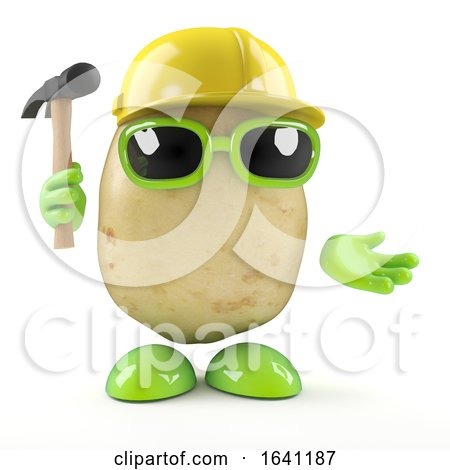3d Construction Worker Potato by Steve Young