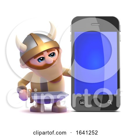 3d Viking Smartphone by Steve Young