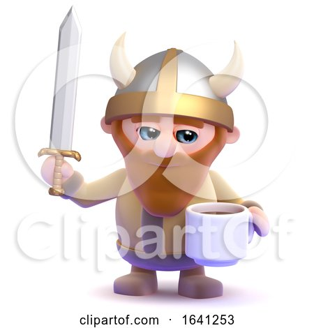 3d Viking Tea Break by Steve Young
