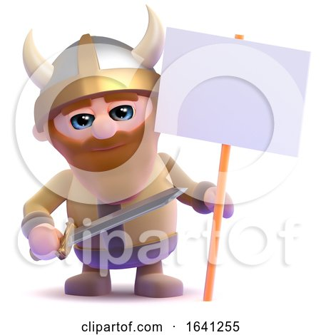 3d Viking Placard by Steve Young