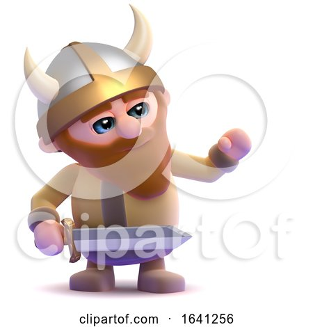 3d Viking Gestures to the Right by Steve Young