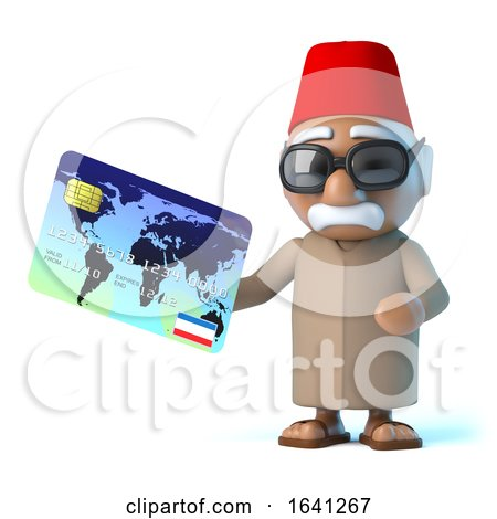 3d Moroccan Pays by Debit Card by Steve Young