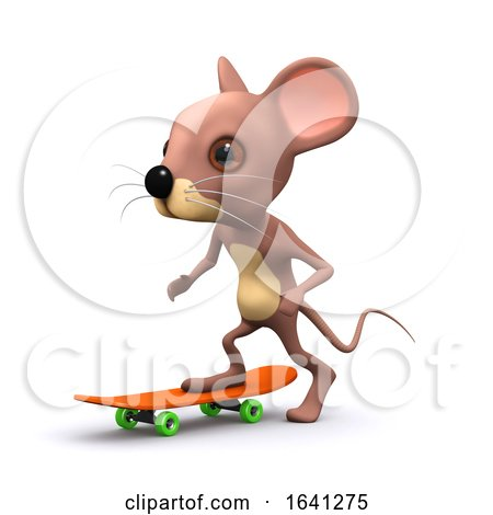 3d Mouse Skateboarding by Steve Young