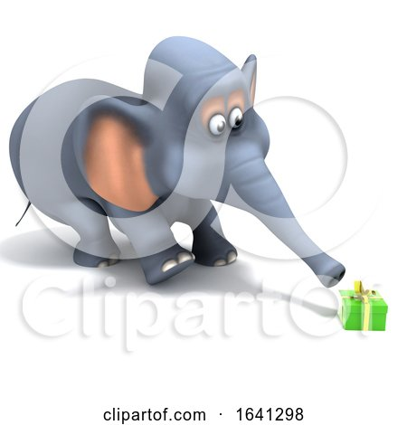 3d Surprised Elephant by Steve Young