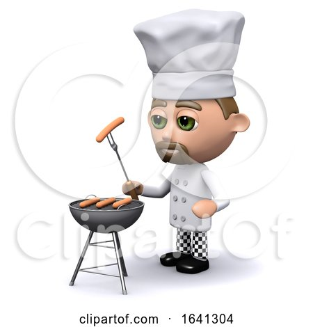 3d Chef Cooks a Barbecue by Steve Young