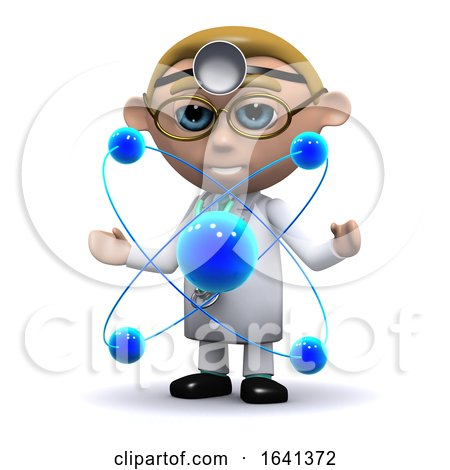3d Doctor Studies Atoms by Steve Young