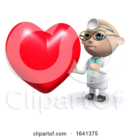 3d Doctor Next to a Heart by Steve Young