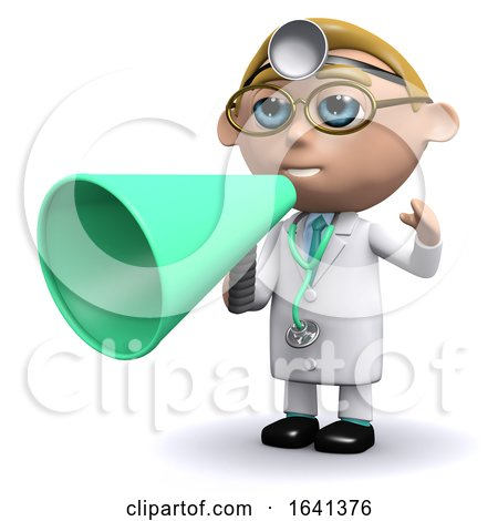 3d Doctor Uses a Megaphone by Steve Young