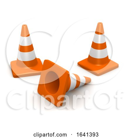 3d Traffic Cones by Steve Young