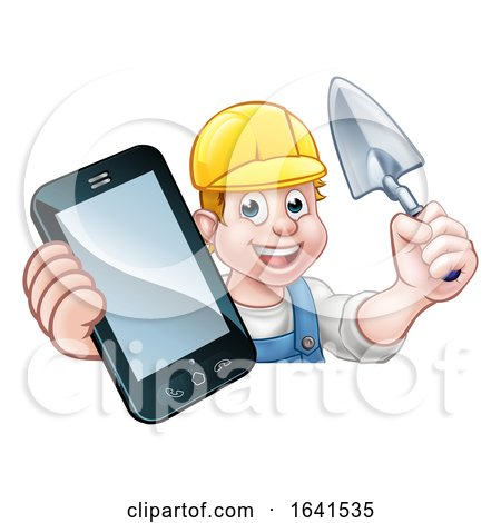 Builder Phone Concept by AtStockIllustration