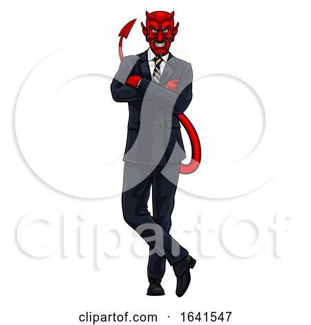 Businessman Evil Devil in Suit by AtStockIllustration