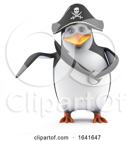 3d Penguin Pirate by Steve Young