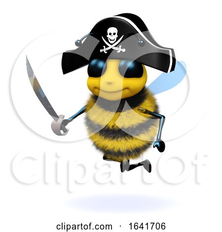 3d Bee Pirate by Steve Young