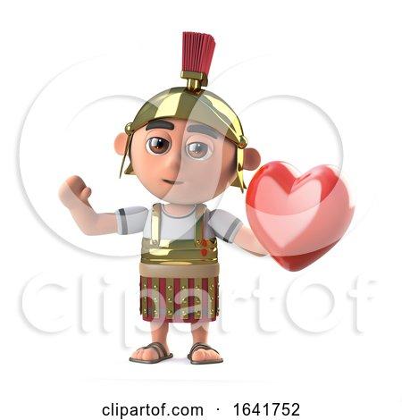 3d Roman Centurion Soldier Has a Heart by Steve Young