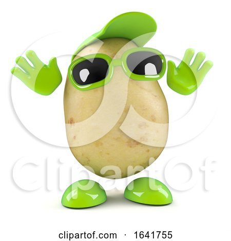 Surprised 3d Potato by Steve Young