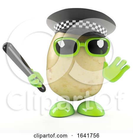 3d Police Officer Potato by Steve Young